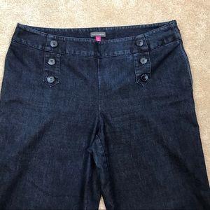Vince Camuto Jeans - VINCE CAMUTO Dark DENIM Button CROPPED Sailor JEAN